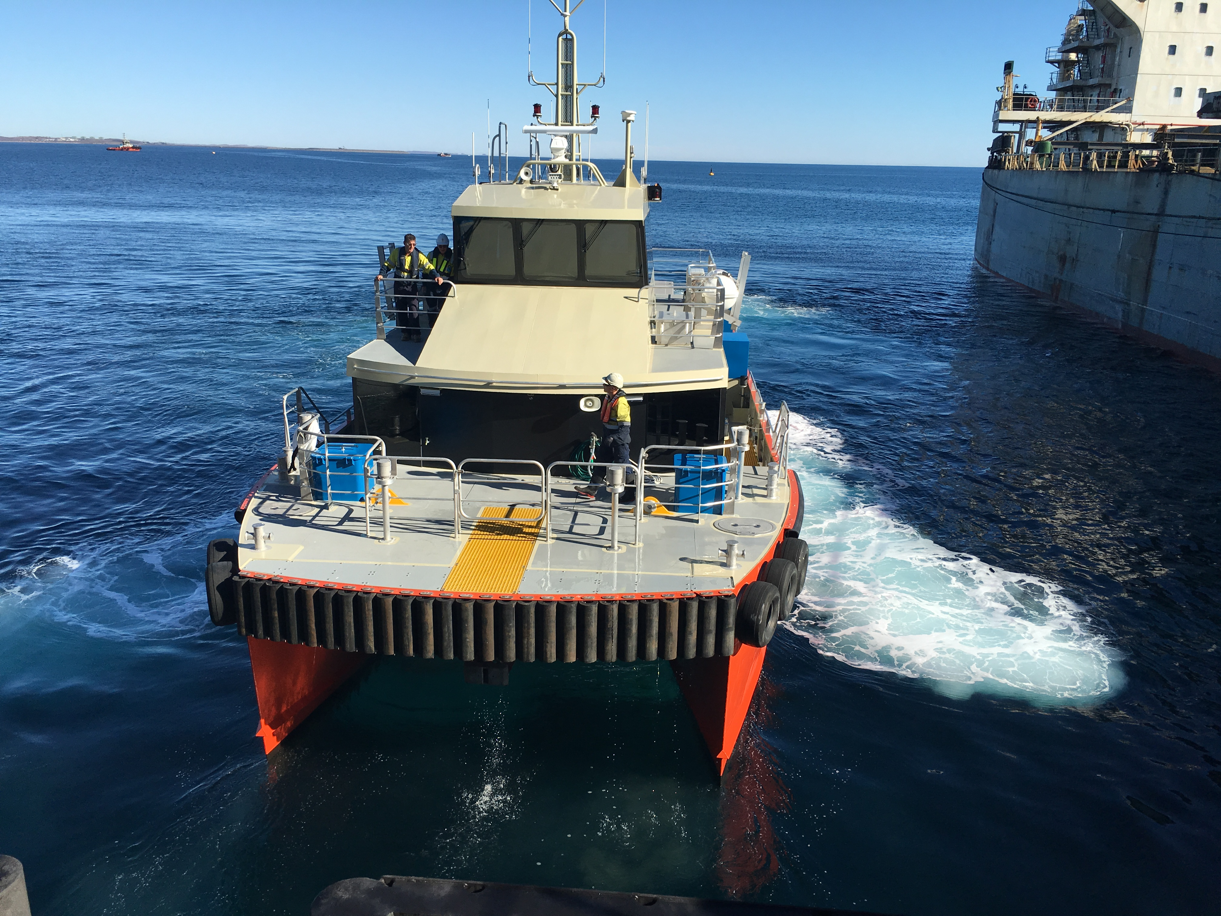 Image - the new crew transfer and pilot vessel, Ardea, pictured in the waters of Cape Preston Port